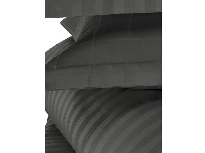 De Witte Lietaer Dekbedovertrek Katoen Satijn Zygo - Tweepersoons - 200 x 220 cm - Zwart