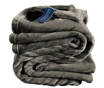 De Witte Lietaer Fleece plaid Steeple Gray 150 x 200 cm