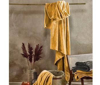 De Witte Lietaer Fleeceplaid Golden Yellow 150 x 200 cm