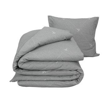 De Witte Lietaer Housse de couette Flanelle Coton Piper Grey 140 x 200/220 cm