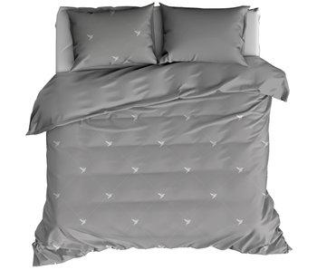 De Witte Lietaer Bettbezug Baumwolle Flanell Piper Grau 260 x 240 cm