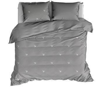 De Witte Lietaer Duvet cover Cotton Flannel Piper Gray 260 x 240 cm