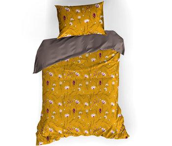 De Witte Lietaer Bettbezug Baumwollsatin Fleur Deep Taupe 140 x 200/220 cm