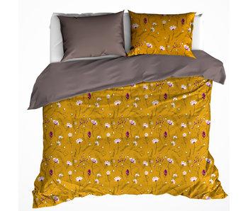 De Witte Lietaer Bettbezug Cotton Satin Fleur Deep Taupe 240 x 220 cm