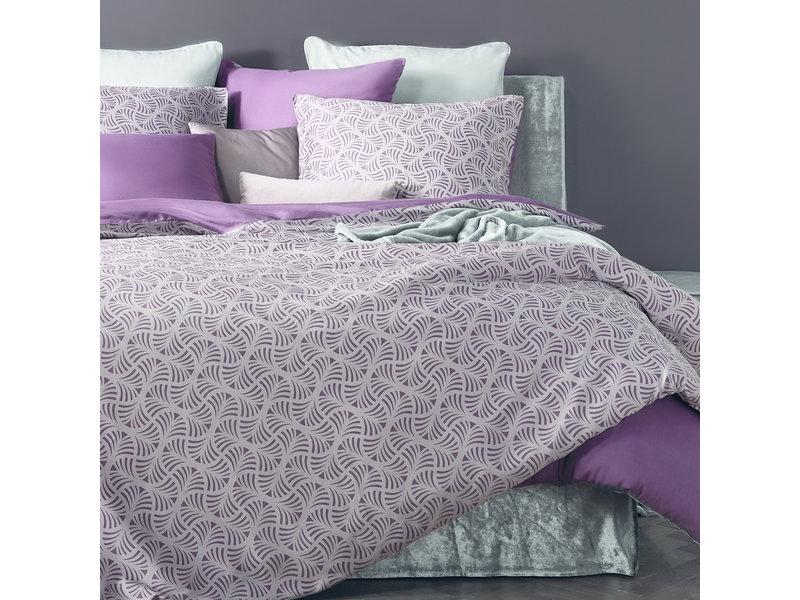De Witte Lietaer Housse de couette Cotton Satin Flow - Simple - 140 x 200/220 cm - Violet