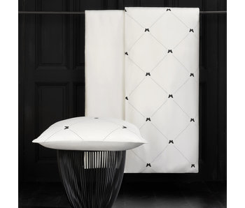 De Witte Lietaer Housse de couette Coton Satin Papillons Météorite 140 x 200/220 cm