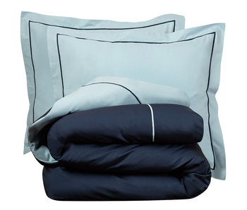 De Witte Lietaer Bettbezug Cotton Perkal Bumblebee Ice Blue / Marine Ink 200 x 200/220 cm