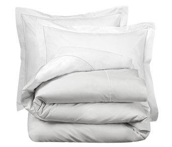 De Witte Lietaer Bettbezug Cotton Perkal Bumblebee Weiß / Silber 240 x 220 cm
