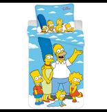 The Simpsons Housse de couette Portrait - Simple - 140 x 200 cm - Bleu