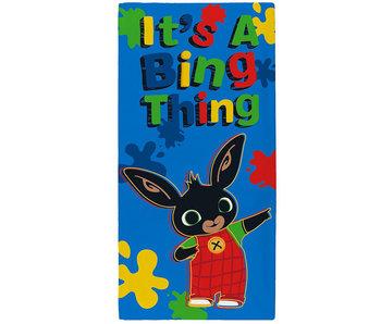 Bing Bunny Serviette de plage Bing Thing 70 x 140 cm