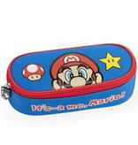 Super Mario Etui Power-Up - 22 x 9.5 x 7 cm - Blauw