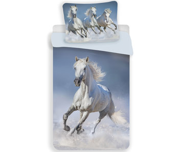Animal Pictures Duvet cover White Horse 140 x 200