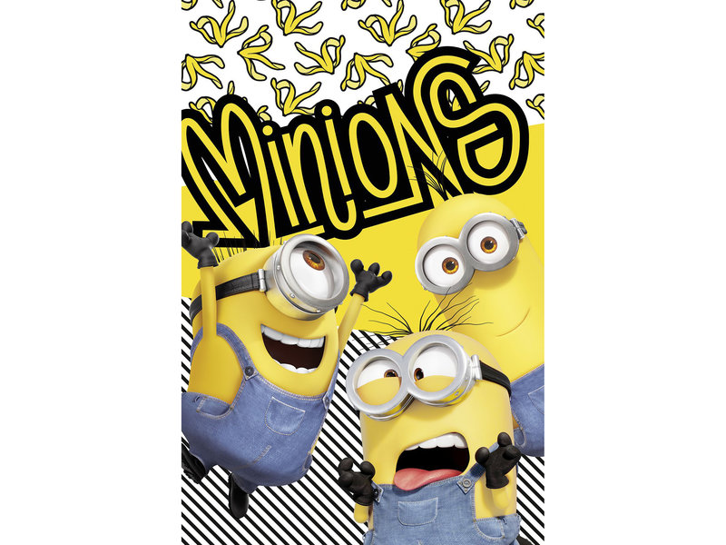 Minions 2 Fleeceplaid Banana - 100 x 150 cm - Geel