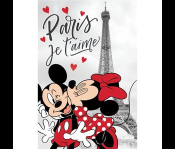 Disney Minnie Mouse Fleece deken Paris 100 x 150 cm
