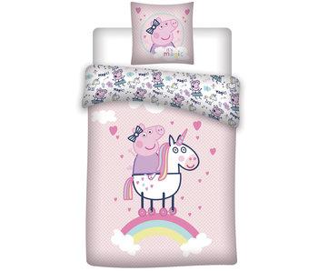 Peppa Pig Housse de couette Flanelle Licorne 140 x 200