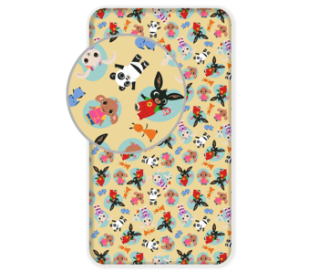 Bing Bunny Fitted sheet Friends 90 x 200 cm