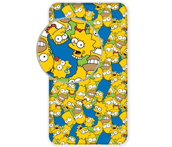The Simpsons Fitted sheet Faces 90 x 200