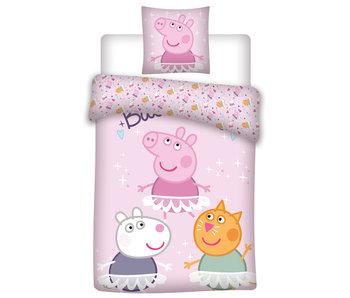 Peppa Pig Dekbedovertrek Friends 140 x 200