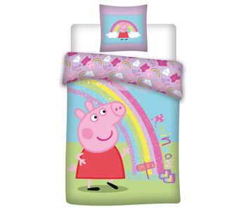 Peppa Pig Housse de couette Rainbow 140 x 200