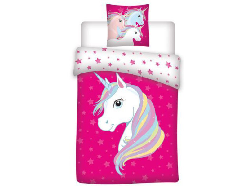 Unicorn Duvet cover Stars - Single - 140 x 200 cm - Polyester