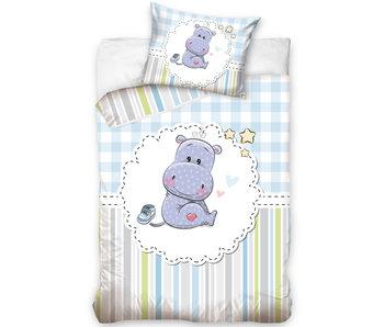 Nijlpaard BABY Bettbezug Blau 100 x 135 cm