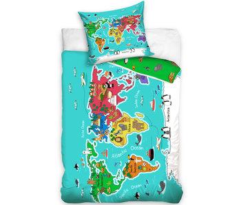Bettbezug Weltkarte 140 x 200
