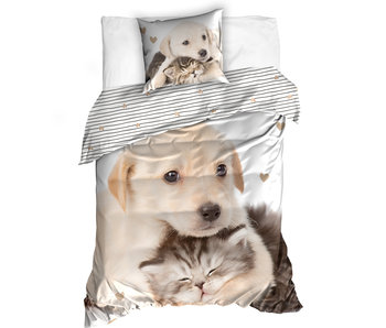 Animal Pictures Duvet cover Labrador and Kitten 140 x 200