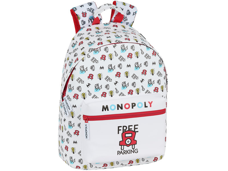 Monopoly Backpack Free Parking - 41 x 31 x 16 cm - White