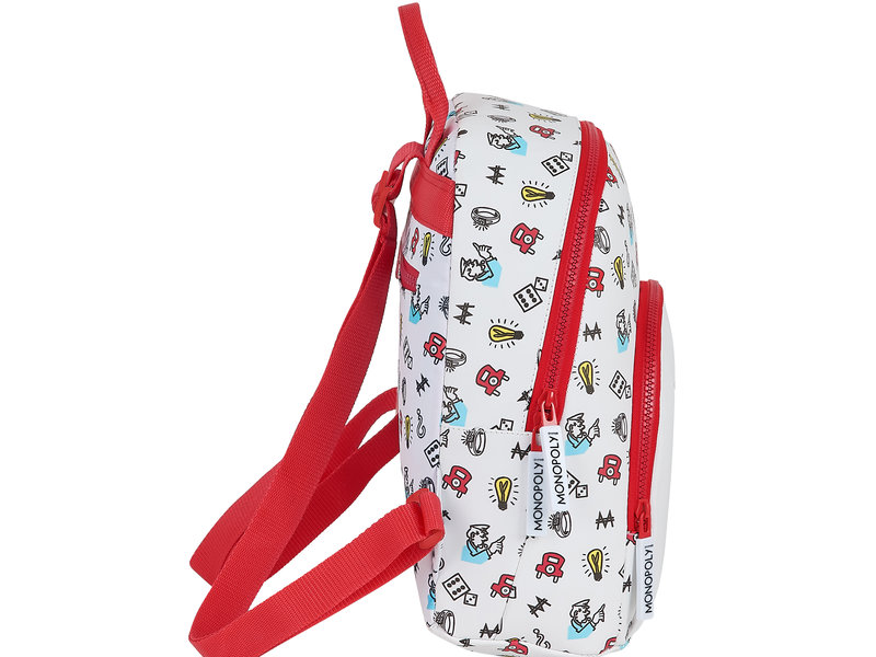 Monopoly Backpack Go - 30 x 25 x 13 cm - White