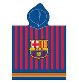 FC Barcelona Poncho Logo - 60 x 120 cm - Blauw