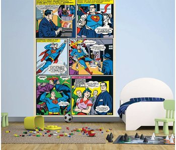 Superman Mural Comic