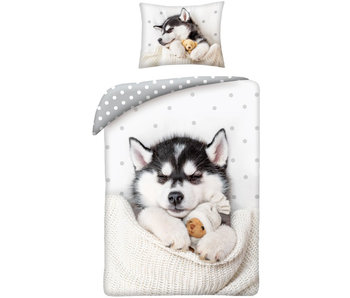 Animal Pictures Dekbedovertrek Husky Puppy 140 x 200