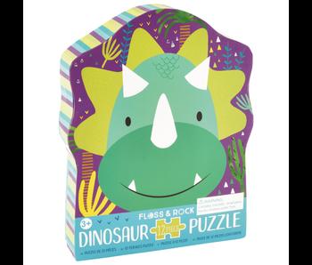 Floss & Rock Puzzle Dino - 12 pieces