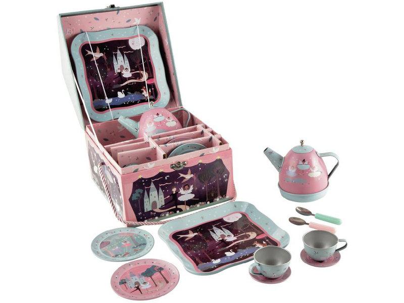 Floss & Rock Pewter tea service / music box - 10-piece - Multi