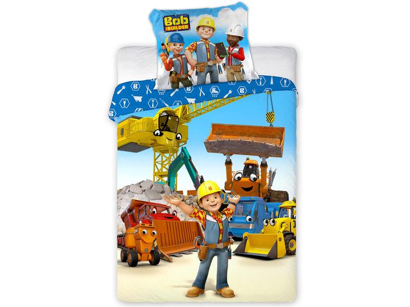 Bob de Bouwer Housse de couette bébé Construction Zone - 100 x 135 cm - Coton