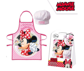 Disney Minnie Mouse Apron and Chef's Hat Delicious 4-8 Years