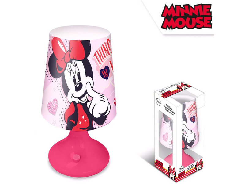 Disney Minnie Mouse Tafellamp - 18 cm - Roze