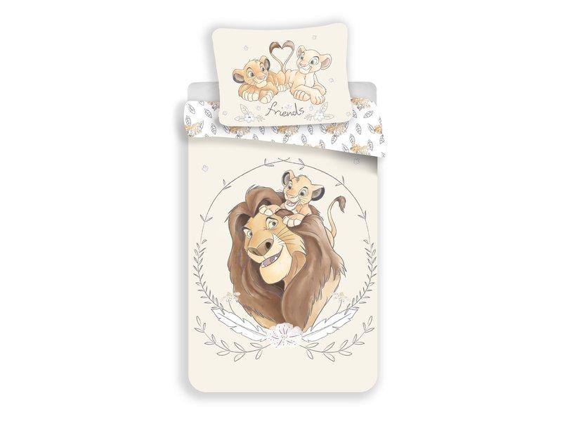 Disney The Lion King Dekbedovertrek Portret - Eenpersoons - 140  x 200 cm - Katoen