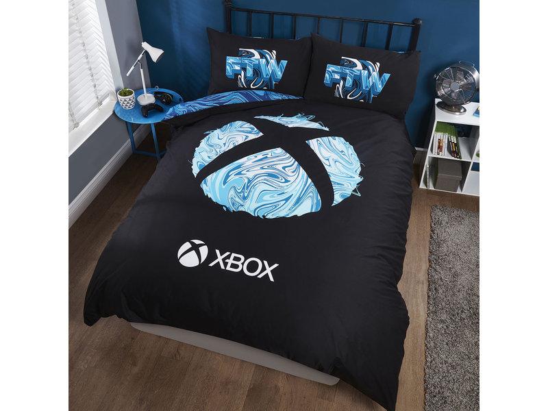 Xbox Duvet cover Blue-X Sphere - Double - 200 x 200 cm - Poly-cotton