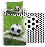 Voetbal Dekbedovertrek Set Corner - Eenpersoons - Inclusief Hoeslaken - Katoen