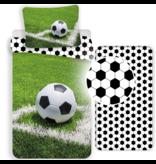 Voetbal Duvet Cover Set Corner - Single - Including Fitted sheet - Cotton