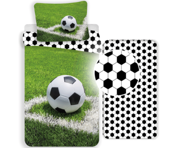 Voetbal Duvet Cover Set Corner - Single - Including fitted sheet