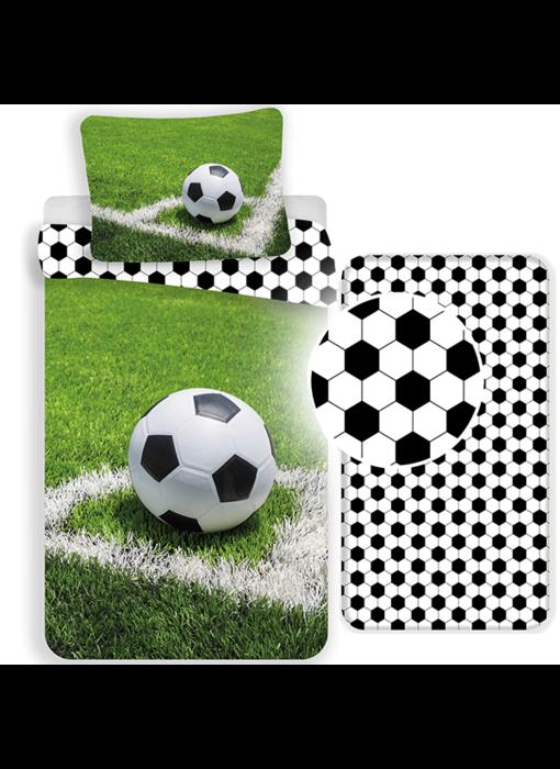 Voetbal Dekbedovertrek Set Corner - Eenpersoons - Inclusief Hoeslaken