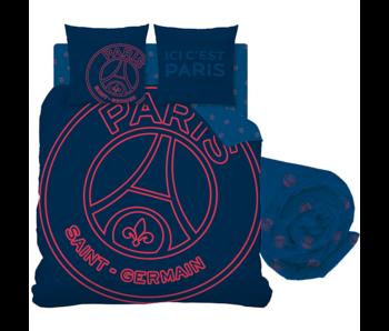 Paris Saint Germain Dekbedovertrek Set Neored - Tweepersoons - Inclusief Hoeslaken
