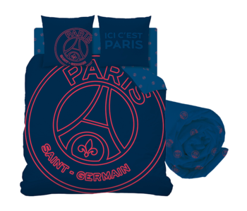 Paris Saint Germain Duvet Cover Set Neored - Double - Including Fitted Sheet