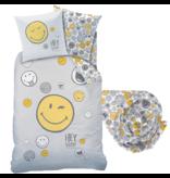 Smiley World Dekbedovertrek Set Hey - Eenpersoons - Inclusief Hoeslaken - Katoen