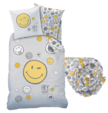 Smiley World Duvet cover Set Hey - Single - Including fitted sheet - Cotton