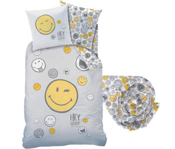 Smiley World Duvet cover Set Hey - Single - Including fitted sheet