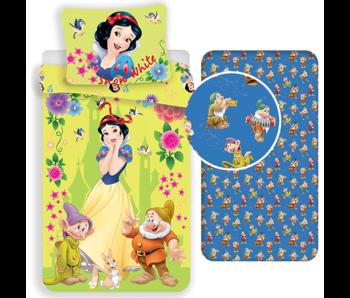 Disney Sneeuwwitje Duvet Cover Set 7 Dwarfs - Single - Including fitted sheet