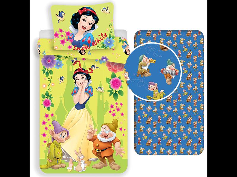 Disney Sneeuwwitje Duvet Cover Set 7 Dwarfs - Single - Including Fitted Sheet - Cotton